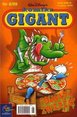 Okładka książki Gigant 6/99: Folwark zwierząt