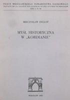 """Myśl historyczna w """"Kordianie"""""""
