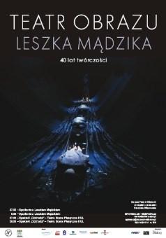 Okładka książki Teatr obrazu Leszka Mądzika. 40-lecie twórczośc