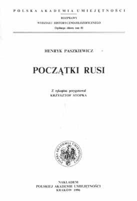Okładka książki Początki Rusi