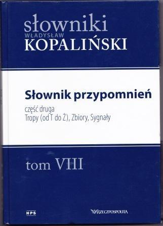 Okładka książki Słownik przypomnień, część druga. Tropy (od T do Ż), Zbiory, Sygnały