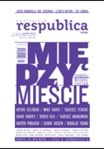 Okładka książki Res Publica Nowa nr 19/2012 Międzymieście