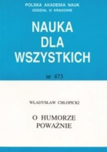 Okładka książki O humorze poważnie