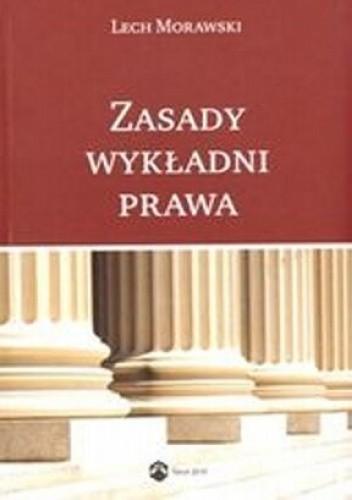Okładka książki Zasady wykładni prawa