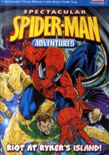 Okładka książki Spectacular Spiderman Adventures: RIOT AT RYKER'S ISLAND