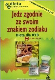 Okładka książki Dieta dla Ryb. Jedz zgodnie ze swoim znakiem zodiaku.