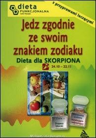 Okładka książki Dieta dla Skorpiona. Jedz zgodnie ze znakiem zodiaku.