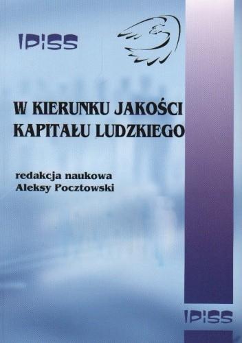 Okładka książki W kierunku jakości kapitału ludzkiego