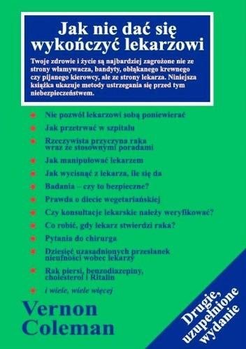 Okładka książki Jak nie dać się wykończyć lekarzowi