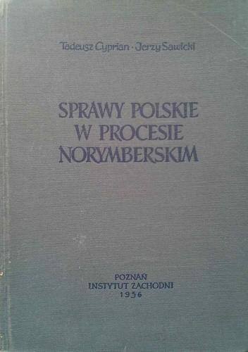 Okładka książki Sprawy polskie w procesie norymberskim