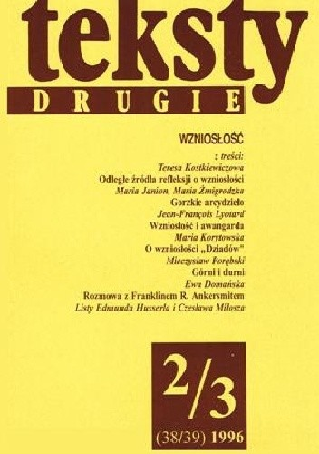 Okładka książki Teksty drugie, nr 2-3 (38-39) / 1996