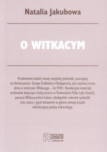 Okładka książki O Witkacym
