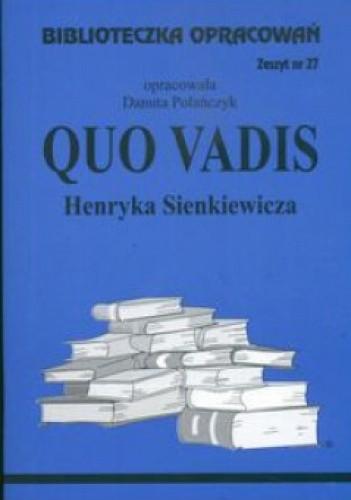 Okładka książki Quo Vadis - opracowanie - zeszyt 27