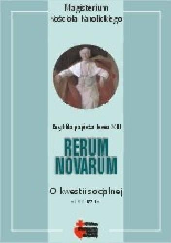 Okładka książki Rerum Novarum. O kwestii socjalnej