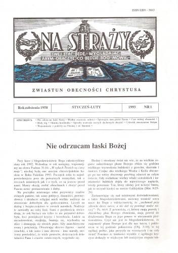 Okładka książki Na Straży, styczeń-luty 1993