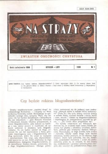 Okładka książki Na Straży, styczeń-luty 1990