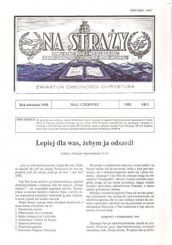 Okładka książki Na Straży, maj-czerwiec 1992