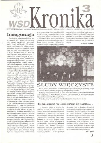 Okładka książki WSD Kronika, październik-grudzień 1993