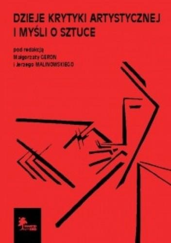 Okładka książki Dzieje krytyki artystycznej i myśli o sztuce