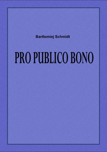 Okładka książki Pro publico bono