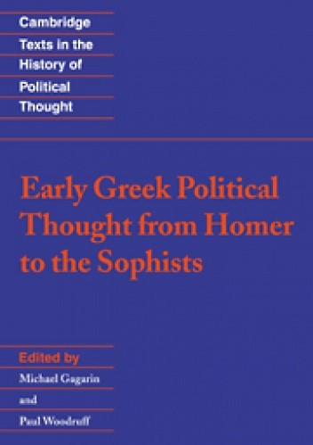 Okładka książki Early Greek Political Thought from Homer to the Sophists