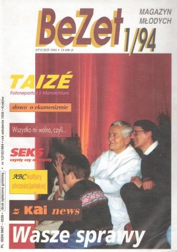 Okładka książki BeZet Magazyn Młodych 1/94