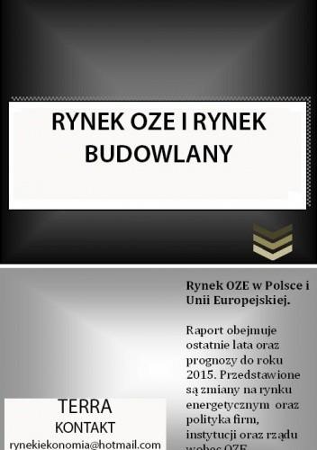 Okładka książki RYNEK OZE I RYNEK BUDOWLANY