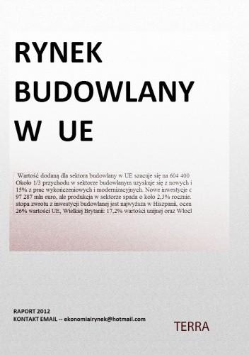 Okładka książki RYNEK BUDOWLANY W UE