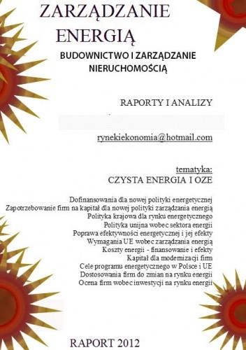 Okładka książki ZARZADZANIE  ENERGIA