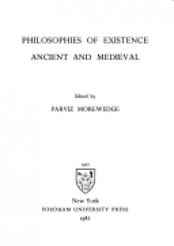 Okładka książki Philosophies of Existence. Ancient and Medieval