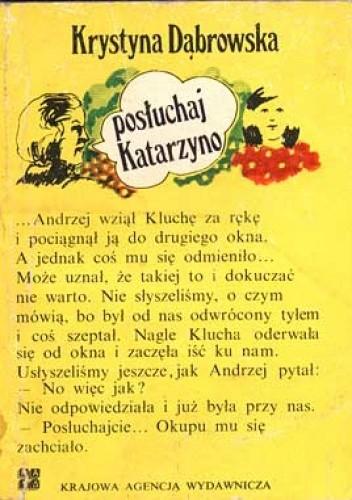 Okładka książki Posłuchaj Katarzyno