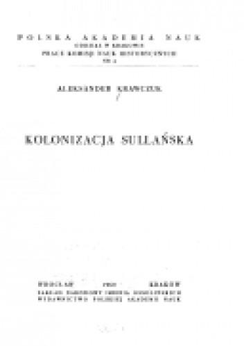 Okładka książki Kolonizacja sullańska