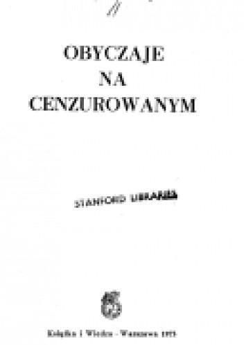 Okładka książki Obyczaje na cenzurowanym