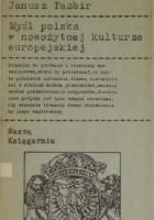 Myśl polska w nowożytnej kulturze europejskiej