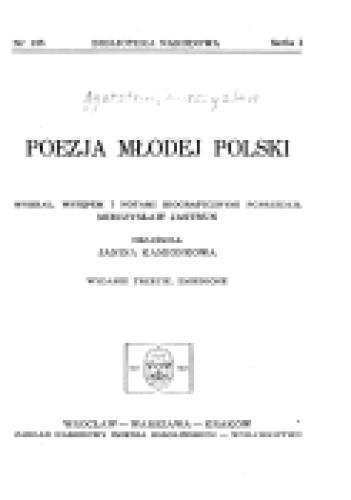 Okładka książki Poezja Młodej Polski