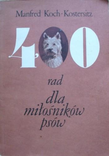Okładka książki 400 rad dla miłośników psów