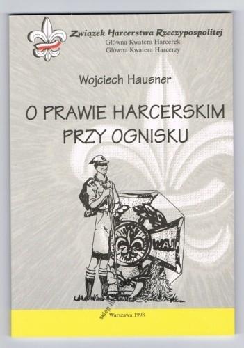 Okładka książki O Prawie Harcerskim przy ognisku