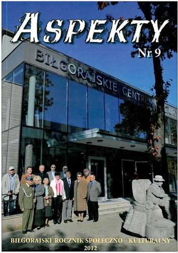 Okładka książki Aspekty nr 9. Biłgorajski rocznik społeczno - kulturalny 2012
