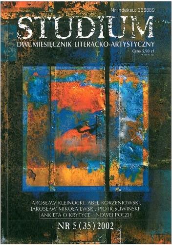 Okładka książki Studium. Dwumiesięcznik literacko - artystyczny, nr 5 (35) 2002