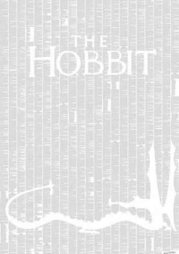 Okładka książki The Hobbit (one page book print)