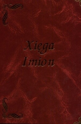 Okładka książki Xięga imion