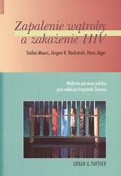 Okładka książki zapalenie wątroby a zakażenie HIV