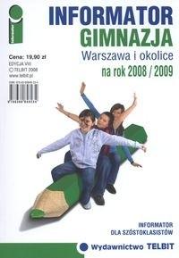 Okładka książki Informator na rok 2008/2009. Gimnazja. Warszawa i okolice