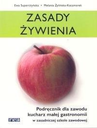 Okładka książki zasady żywienia. Podręcznik dla zawodu kucharz małej gastronomii w zasadniczej szkole zawodowej