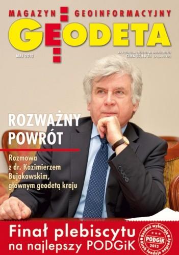 Okładka książki Geodeta. Magazyn geoinformacyjny, nr 5 (216) / 2013