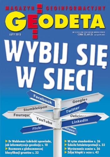 Okładka książki Geodeta. Magazyn geoinformacyjny, nr 2 (213) / 2013