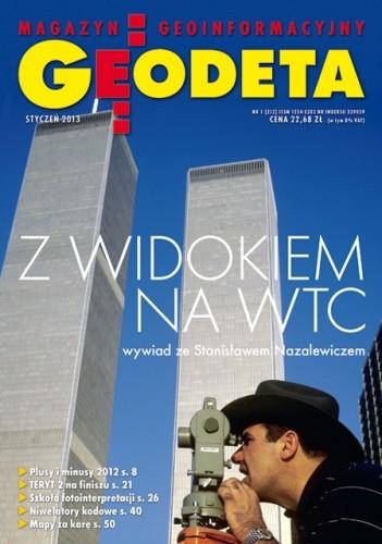 Okładka książki Geodeta. Magazyn geoinformacyjny, nr 1 (212) / 2013