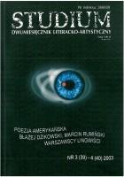 Studium. Dwumiesięcznik literacko - artystyczny, nr 3 (39) - 4 (40) 2003