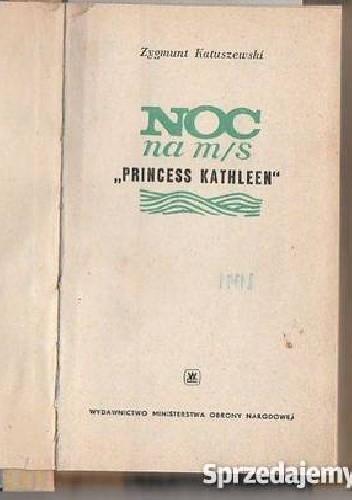 """Okładka książki Noc na M/S """"Princess Kathleen"""""""