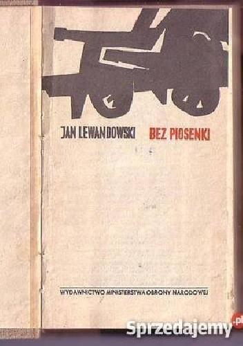 Okładka książki Bez piosenki